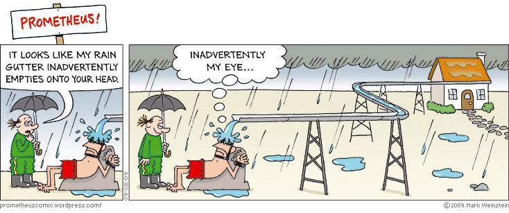 PROMETHEUS rain gutter